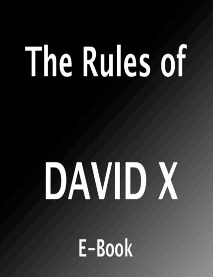 The Rules of - Davidd X